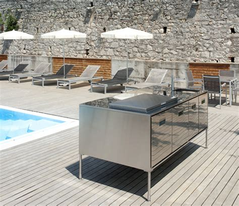 outdoor kitchen island compact outside kitchen island artusi from arclinea