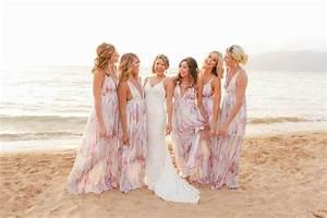 awesome beach wedding bridesmaid dresses weddceremonycom With print bridesmaid dresses for beach wedding