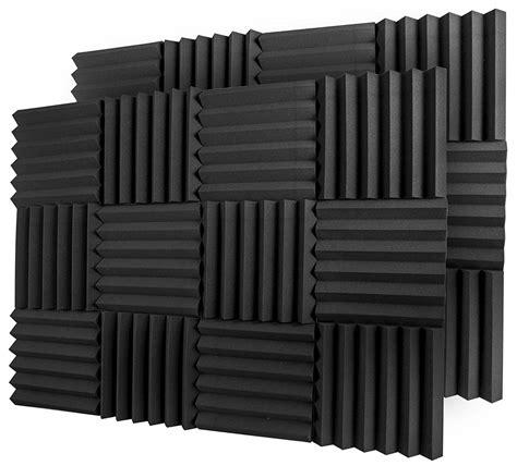 """A2s Protection 24 Pack Acoustic Foam Tiles (black 2"""" 24pcs"""