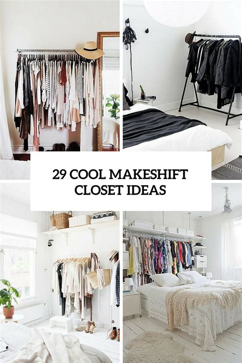 Closet Cover Options by 29 Cool Makeshift Closet Ideas For Any Home Digsdigs