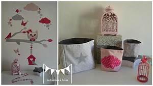 décoration chambre enfant fille nuage hibou chouette étoiles papillon nichoir rose gris fuchsia