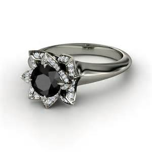 white gold black engagement ring black engagement rings slideshow