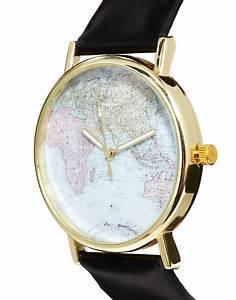 Armbanduhr Mit Weltkarte : reclaimed vintage reclaimed vintage schwarze armbanduhr mit weltkarte bei asos ~ Orissabook.com Haus und Dekorationen