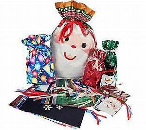 Kringle Express 62 Piece E Z Drawstring Holiday Gift Bag