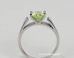 Green peridot ring once upon a time snow white stainless for Snow white wedding ring once upon a time