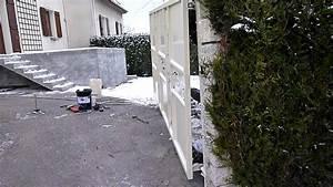 Fixation Portail Battant : portail 1seul battant de 3 m tres en forte pente en ~ Premium-room.com Idées de Décoration