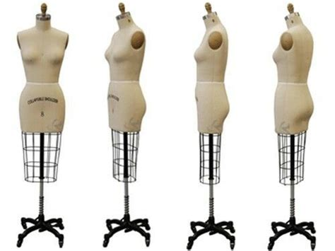 draping mannequin display professional dress form sz 6 half