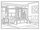 Coloring Bedroom Interior Adults Colors Around Fashionable Nursery Fun Printable sketch template