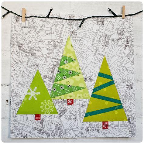 christmas trees block pattern projektownia jednoiglec