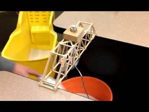 Engr 214 balsa wood bridge (Howe truss) - YouTube