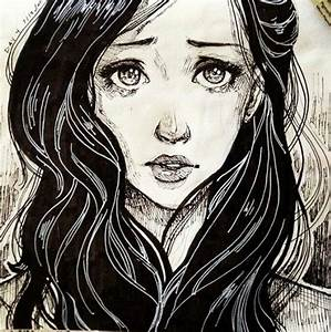 Drawing of Crying girl. | My favourite pictures ...