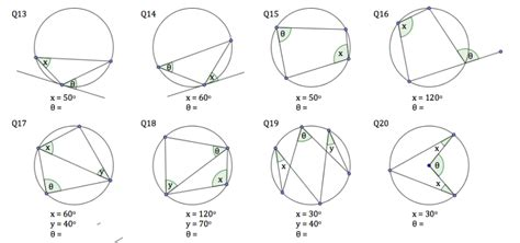 circle theorems worksheet solve my maths
