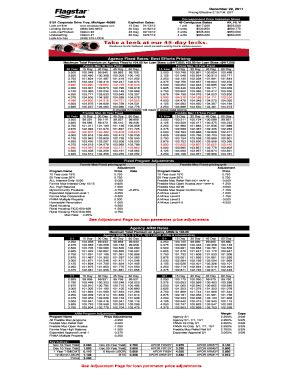 flagstar wholesale rate sheet fill  printable