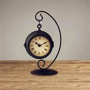 Classical Simple Design Black Table Clock Creative