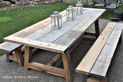 how to make patio restoration hardware inspired outdoor table and benches