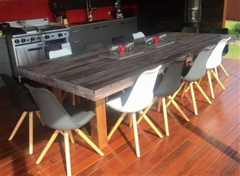 pallet dining room table simple wood pallet dining table set