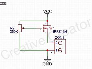 Led Strip Dimmer Circuit With Irfz44n Mosfet