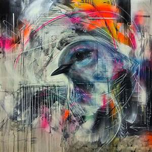 Street Art by L7m -- Paintings of beautiful birds ...