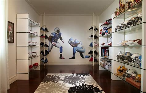 Magnificent Modern Shoe with Football Wall Decal Helmets