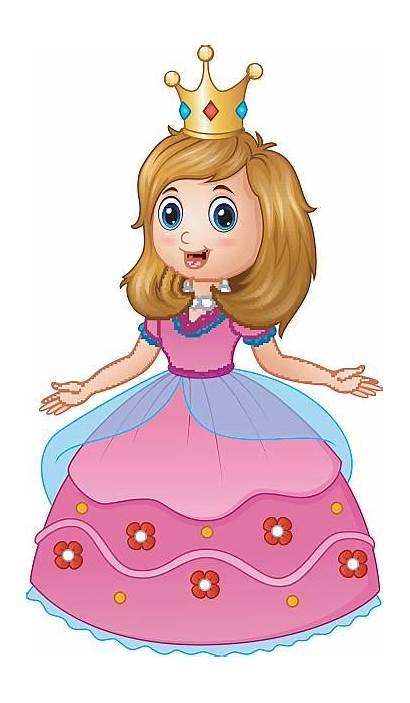 Princess Queen Clipart Pink Vector Clip Illustration