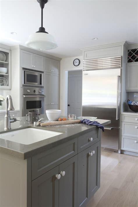 gray kitchen cabinets benjamin moore gray painted cabinets contemporary kitchen benjamin 265   fc23d09a817f
