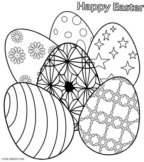 Coloring Easter Eggs by Printable Easter Egg Coloring Pages For Cool2bkids