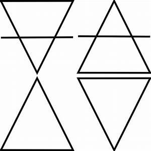 Four Geometric Triangle Symbols Clip Art Free Vector In