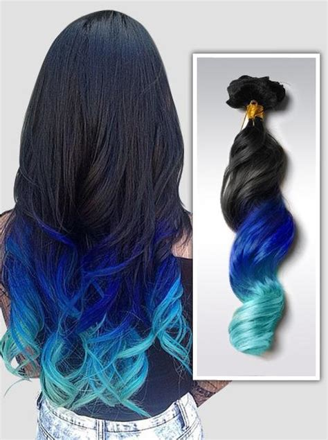 colorful hair extensions mermaid ombre colorful indian remy clip in hair extensions