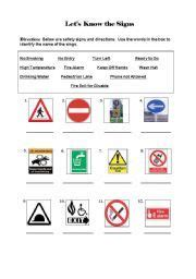 Safety Signs For Kids Worksheets  Free Printable Road Signs Clipart Best Zansite  Projects To
