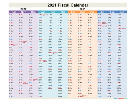 fiscal year calendar  template nofiscaly
