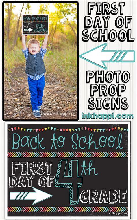 day  school photo prop signs  printables