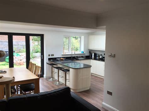 garage conversion design works completed on single storey extension curve build