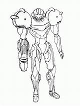 Samus Coloring Sketch Metroid Deviantart Pages Drawings Computer Popular Coloringhome Email sketch template
