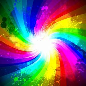 Rainbow splash grunge background vector - WeLoveSoLo