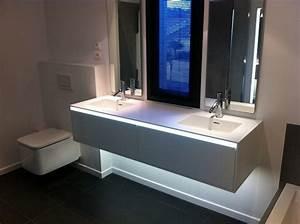 spot salle de bain avec spot miroir salle de bain avec un With carrelage adhesif salle de bain avec spot led cuisine design