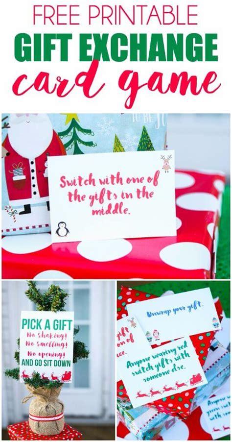 creative gift exchange game idea free printable exchange