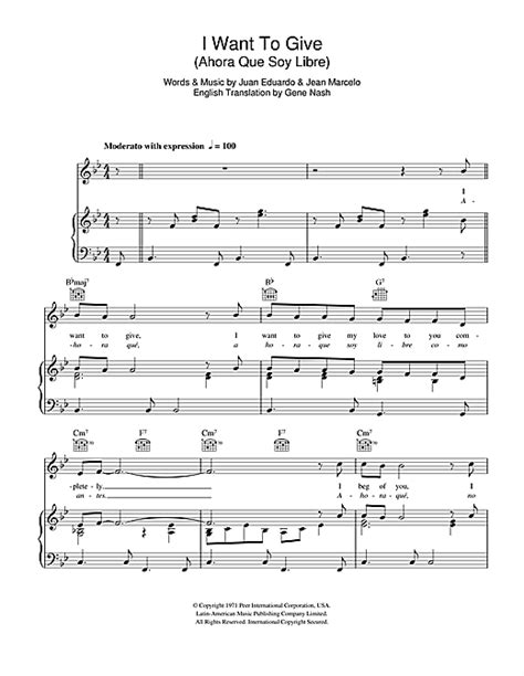 perry como i want to give lyrics i want to give ahora que soy libre sheet music by perry