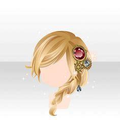 side braid hairstyle images chibi hair