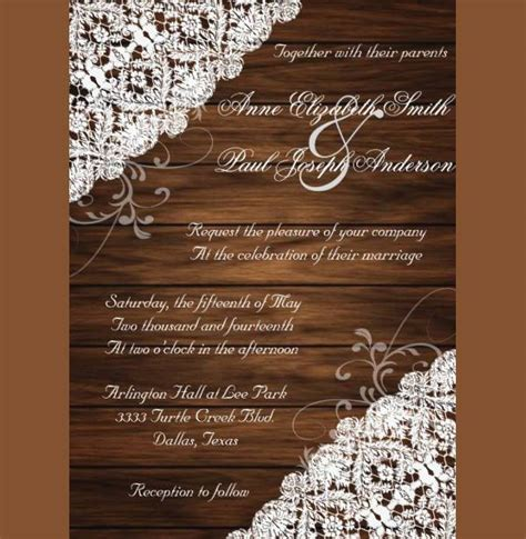 rustic wedding invitations printable psd ai vector