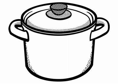 Pot Outline Marmite Colorare Clipart Cucina Cooking