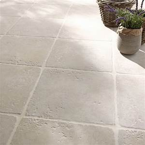 carrelage blanc effet pierre toscane l325 x l325 cm With carrelage travertin leroy merlin