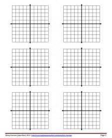 Blank Coordinate Plane Graph Paper 6