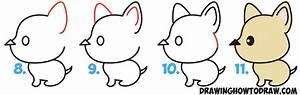 How to Draw a Cute Cartoon Dog (Kawaii Style) from an ...