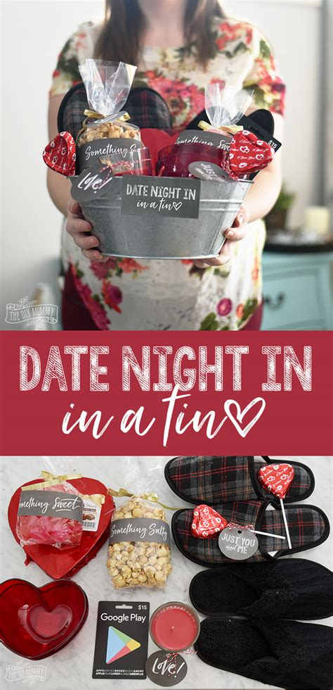Fun at home date ideas. Valentine's Day Date Night In Gift Basket Idea (+ 24 More ...