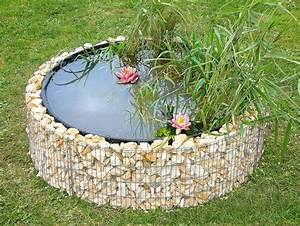 Jardin Avec Bassin : gabion bassin 146 avec galets ~ Melissatoandfro.com Idées de Décoration