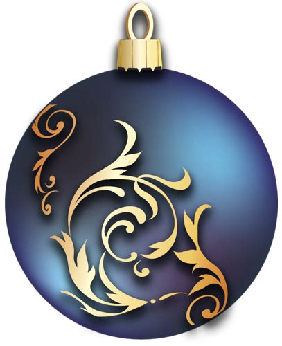 transparent blue christmas ball  gold ornaments
