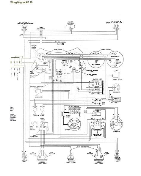 1952 mg td wiring diagram diagrams online
