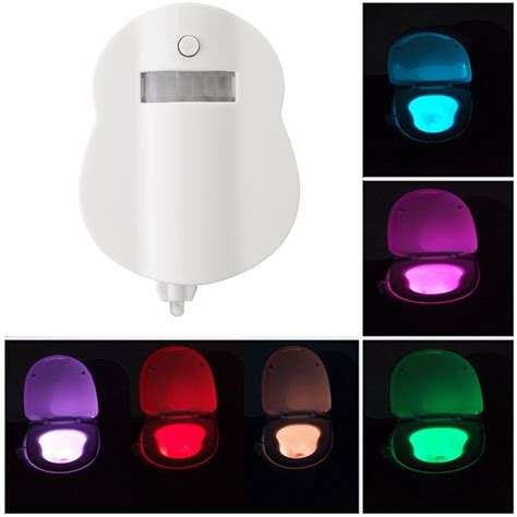 motion activated night light 8 color motion activated led toilet sensor night light