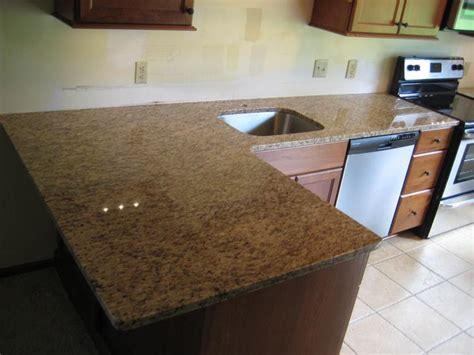 kitchen granite counter top of 3cm venetian gold light