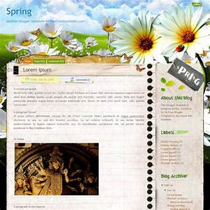 50 most wanted blogger templates hongkiat for Spring newsletter template
